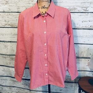 Westbound Red Gingham Button Up Shirt